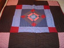 "LANCASTER, PA AMISH COLORS DIAMOND WALLHANGING QUILT  SIZE 36""- 36"""
