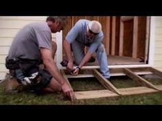 Building a ramp for garden shed - YouTube