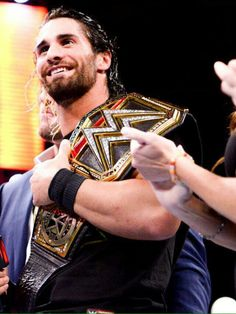 Seth Rollins and that freaking smile.. Ugh
