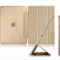 Luxe Stand En Cuir Case Pour iPad mini 1 2 3 4 Retina soie Mince Clair Transparent Smart Couverture Arrière pour Apple iPad Mini 4 3