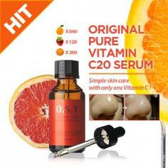 #OST Original Pure Vitamin C 20 Serum, Vitamin C Skin, Vitamin C Face, Whitening Serum. Gotta try this!