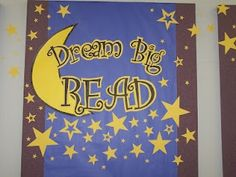 large sign/bulletin board for summer reading 2012 Star Bulletin Boards, Christmas Bulletin Boards, Reading Bulletin Boards, Winter Bulletin Boards, Preschool Bulletin Boards, Bulletin Board Display, Library Themes, Library Displays, Library Decorations
