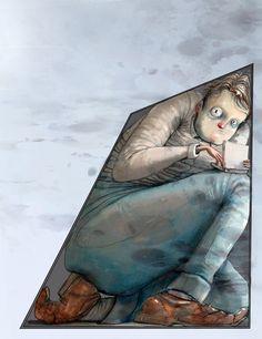 Om klaustrofobi i DBMagasinet Funny Art, Illustrator, Lisa, Feelings, Drawings, Artist, Painting, Inspiration, Hands