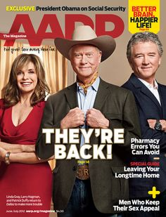 Two words: Larry Hagman. We were lucky enough to interview the whole Ewing clan before his death. Dallas Magazine, Now Magazine, Magazine Covers, Patrick Duffy, Larry Hagman, Dallas Tv, Linda Gray, Dysfunctional Relationships, I Dream Of Jeannie