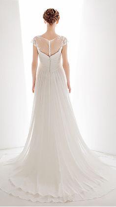 chiffon wedding gown..lovely