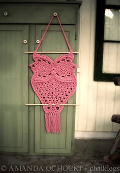 Ravelry: Owl Hanger in Macrame Style pattern by Thomasina Cummings Designs