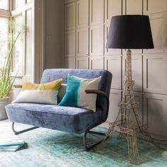 Eiffel Tower Floor Lamp in Brass - Decorative & String Lights - Lighting - Lighting & Mirrors Sofa Design, Interior Design, Pad Design, Interior Styling, Shabby Chic Sofa, Contemporary Sofa, Modern Sofa, Classic Living Room, Sofa Home
