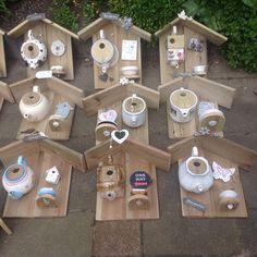 Teapot bird houses - All About Wood Bird Feeder, Hanging Bird Feeders, Bird House Feeder, Homemade Bird Houses, Bird Houses Diy, Outdoor Crafts, Outdoor Projects, Garden Crafts, Garden Projects