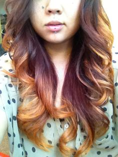 """MODERN Facebook fan Mary Tran posted this pic of her newly-updated """"flaming red ombre"""" color and it was love at first site for our thousands of Facebook fans. We tracked down Mary, and her colorist Laura Shields, at her Sit Still Salon in Venice Beach, California, for the how-to."""
