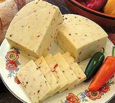 Hot Pepper Cheese ~ one of the finer things in life! Baking Recipes, Keto Recipes, Cheese Stuffed Peppers, Homemade Cheese, Russian Recipes, Cheese Recipes, Food Hacks, I Foods, Feta