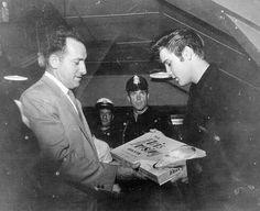 Receiving the Elvis Presley board game on April 5 1957