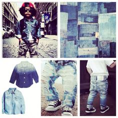 It's time for denim clashes, baby boys rock it