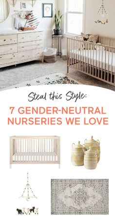 Seven distinctly different inspirations to help you decorate your dream baby nursery. -- You can add anything to your baby registry with Babylist. Literally anything - even Etsy items, baby sitting, or home-cooked meals! It's easy, beautiful Baby Nursery Decor, Nursery Neutral, Nursery Room, Girl Nursery, Girl Room, Neutral Nurseries, Nursery Ideas, Baby Boy Rooms, Baby Bedroom
