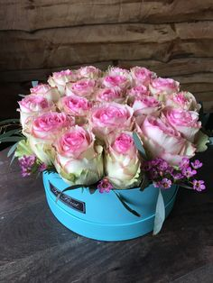 Flower Packaging, Good Morning Wishes, Flower Boxes, Pink Roses, Flower Arrangements, Centerpieces, Stuffed Toys, Cake, Pictures