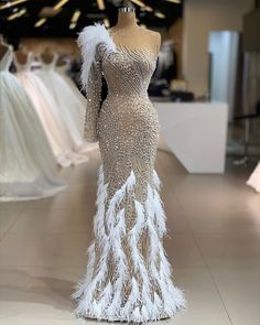 Saved from Macy's Prom Dresses With Sleeves, Gala Dresses, Couture Dresses, Women's Fashion Dresses, Nice Dresses, Dress Outfits, Long Dresses, Wedding Dresses, Dinner Gowns