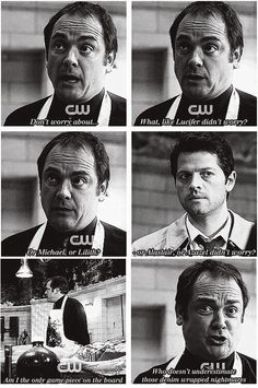 I love how Crowley understands. How the King Of Hell is terrified of them, and he knows that he should be.