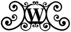Wrought Iron House Plaque Let W -24 In