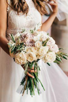 Classic white and pink rose bridal bouquet | Image by Stelios Kalisperis Pale Pink Bouquet, Rose Bridal Bouquet, Bridal Bouquets, Wedding Planning On A Budget, Destination Wedding Planner, Wedding Planners, Wedding Flower Inspiration, Flower Ideas, Wedding Ideas