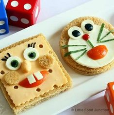 Cute Food, Good Food, Yummy Food, Healthy Food, Fun Snacks For Kids, Kids Meals, Food Carving, Food Garnishes, Lunch Snacks