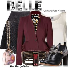 Inspired by Emilie de Ravin as Belle (Once Upon a Time) via Wear What You Watch