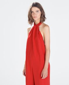 ZARA - WOMAN - JUMPSUIT WITH BOW AT THE BACK