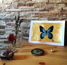 #art #etsyshop #etsy #goldleafimitation #goldleaf #illustration #gold #artofgold #metallicleaf #watercolor #originalart #butterfly