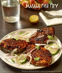 How to make masala fish fry Indian Fish Recipes, Fried Fish Recipes, Veg Recipes, Curry Recipes, Seafood Recipes, Asian Recipes, Masala Fish Recipes, Prawn Recipes, Lobster Recipes