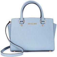 Womens Tote Bags Michael Kors Selma Medium Blue Saffiano Leather Tote Diese und weitere Taschen auf www.designertaschen-shops.de entdecken