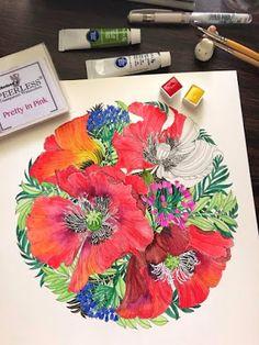Book: Floribunda Artist: Leila Duly Medium: Sennelier, Peerless and Reeves watercolors  Colored by: Lenn Tejada-Katindig
