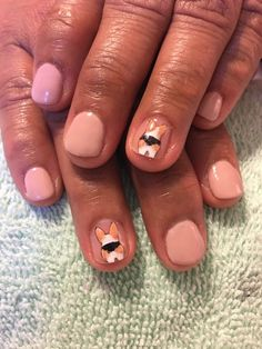 Corgi butts nail art! #welshcorgi #corginaildesign #corginailart #nailart #naildesign #corgibutts