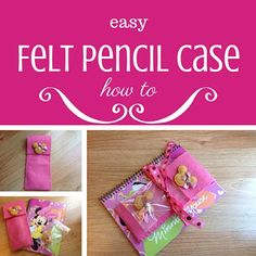 Easy Felt Pencil Case: how to