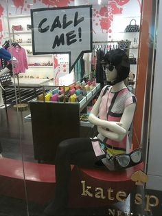 Kate Spade telephone windows, Jakarta visual merchandising