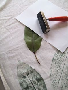 Leaf Print on Fabric