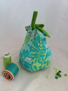 Green Pear Pin Cushion. via Etsy.