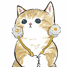 Kitty Drawing, Cute Cat Drawing, Cute Cartoon Drawings, Cute Animal Drawings, Cartoon Art, Kittens Cutest, Cute Cats, Arte Indie, Gato Anime