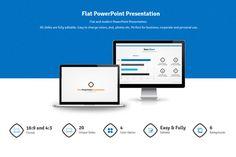 Flat PowerPoint Presentation by hey! on Creative Market