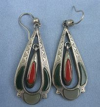 Scottish Earrings, Vintage,  Silver and Agate - I own these