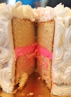this would be perfect for a gender reveal cake. nothing too elaborate just simple and to the point.