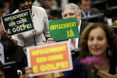 Votos no placar do impeachment