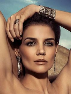 Katie Holmes models jewelry for H.Stern Designs