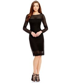 2ef716fe31d Shop for Antonio Melani Noemi Striped Mesh Long Sleeve Sheath Dress at  Dillards.com. Visit Dillards.com to find clothing