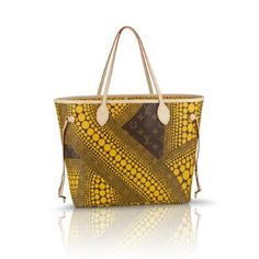 Louis Vuitton Neverfull MM - Yayoi Kusama Louis Vuitton Patch Signature Yellow Tote Bag