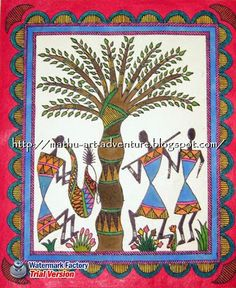Warli Painting Borders | Traditional Indian Paintings: Warli in Madhubani Style