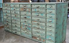 I could fill up each and every one of those drawers!!!  -   Fiona and Twig: Recreating the Magic...Carol Hicks Bolton Antiquites, Part One