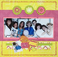 Back In The Day #Scrapbook Layout Project Idea from Creative Memories  http://www.creativememories.com