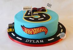 Hot Wheels Birthday Cake by Bakedy Cake                              …