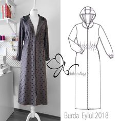 Dungarees and overalls are a God send for September. Team yours with a long-sleeved Breton top on chillier days or a loose cotton blouse when it's a little muggy out. Gamis Simple, Hijab Simple, Dress Illustration, Dress Drawing, Abaya Fashion, Lace Embroidery, Jacket Pattern, Cotton Blouses, Dress Patterns