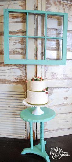 Wild Strawberry Gum Paste Cake.  Foxtail Bakeshop. Bend Oregon Wedding Cakes www.foxtailbakeshop.com