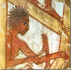 Versieringstechnieken van meubels - Kemet Ancient Egyptian Paintings, Modern Egypt, Ancient Near East, Wall Paintings, Egyptians, Carpenter, Archaeology, Civilization, Art Inspo