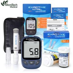 MICROTECH MEDICAL CE FDA Diabetics Test glucometro Monitor Certificate Blood Glucose Meters Monitor 50 strips + 50 Lancets